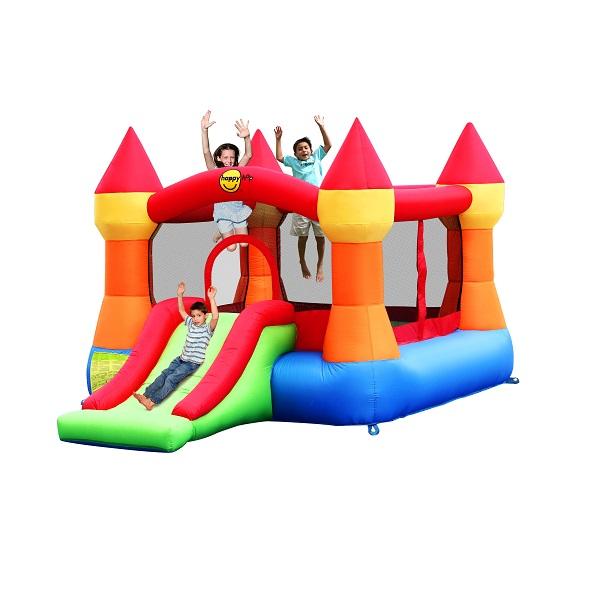 Happy Hop springkussen Springkasteel met glijbaan Regenboog 9017N